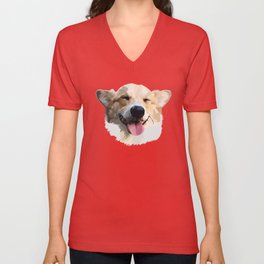 Corgi Dog Unisex V-Neck