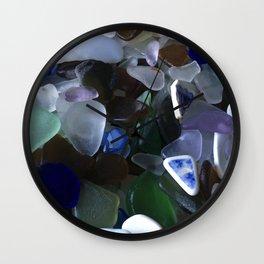 Sea Glass Assortment 4 Wall Clock