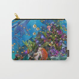 A Mermaid in Poseiden's Realm Carry-All Pouch