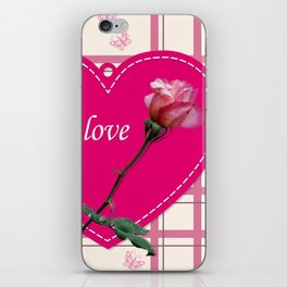 rose with love iPhone Skin