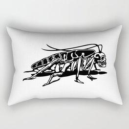 Skull roach Rectangular Pillow