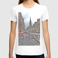 edinburgh T-shirts featuring Edinburgh by Christine Workman