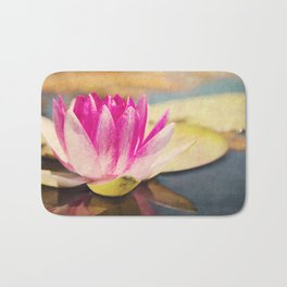 Quiet: A Pink Lily Pad  Bath Mat