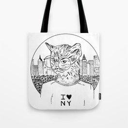 NY Cat Tote Bag