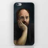 louis ck iPhone & iPod Skins featuring Louis CK by Pavel Sokov