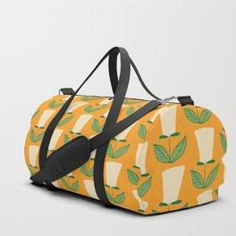 Retro Botanical Mid century Tulip Yellow Duffle Bag