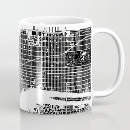 New York city map black and white Coffee Mug