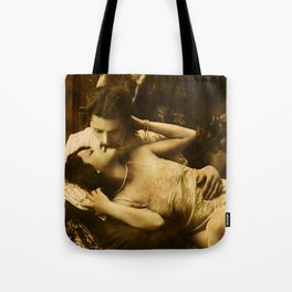 Lovers on the Couch Tote Bag