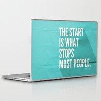 sayings Laptop & iPad Skins featuring The Start by Zeke Tucker