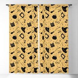 Magic symbols (yellow) Blackout Curtain