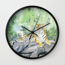 Tiger Family Wall Clock