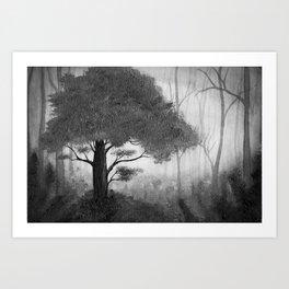 The Dark Forest (B&W) Art Print