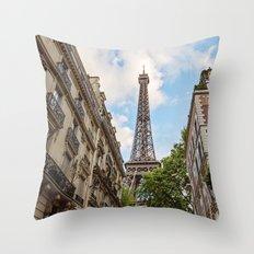 Hello, Paris Throw Pillow