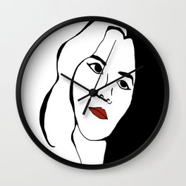 Looking into Darkness Wall Clock