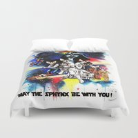 starwars Duvet Covers featuring StarWars Sphynx by Psyca