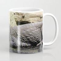crocodile Mugs featuring Crocodile by Falko Follert Art-FF77
