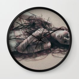 Black Silk Enchanter Wall Clock