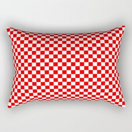 Large Australian Flag Red and White Check Checkerboard Rectangular Pillow