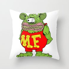 Meat Fink Throw Pillow