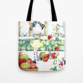 Snow White and the cooperative. Tote Bag