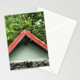 Cap Malheureux, red roof Stationery Cards