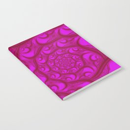 Fractal Web Red on Pink Notebook