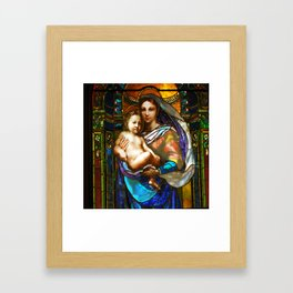 Mother Mary With Jesus Framed Art Print