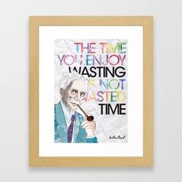 Wasted Time Framed Art Print