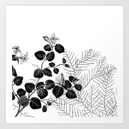 Minimal Spring design Art Print