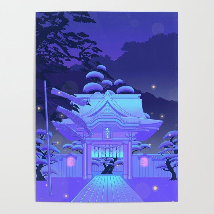 Blue Daydream Poster