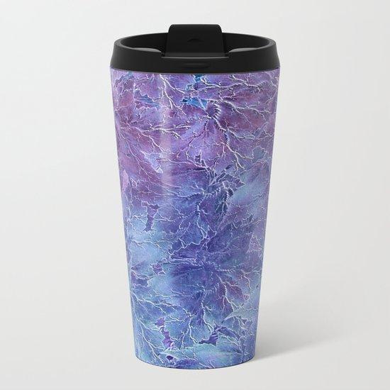 Frozen Leaves 4 Metal Travel Mug