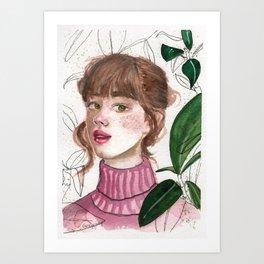 Girl Portrait 1 Art Print