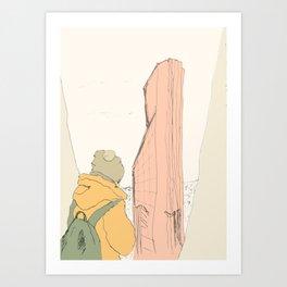 Calmness in a big city Art Print