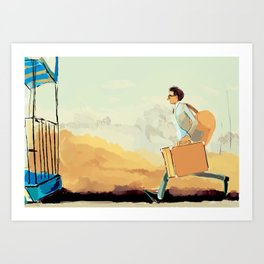 this time tomorrow, where will we be? (wes anderson) Art Print
