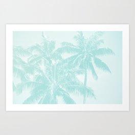 Palm Trees Cyan Kihei Maui Hawaii Art Print