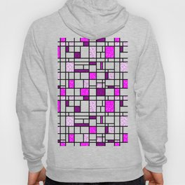 Modern Art Pink and Purple Speckled Grid Pattern Hoody