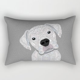 Cute White Boxer Rectangular Pillow