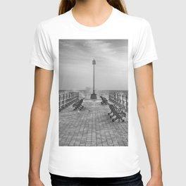 Swanage Jetty in Mono T-shirt