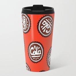 Cola Bottle Top Pattern Travel Mug