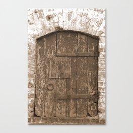 Locked Rough Door Canvas Print