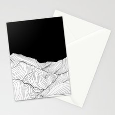 Lines in the mountains - b&w Stationery Cards