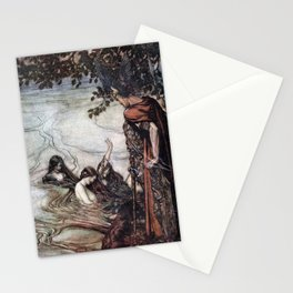 Arthur Rackham - Siegfried and the Twilight of the Gods (1911) - Mocking maids Stationery Cards