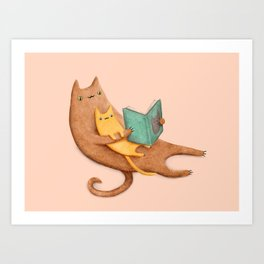 The Cat's Mother Art Print