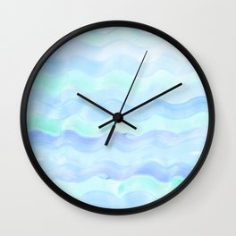 water color ocean wave aqua  Wall Clock
