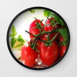 Fresh Tomatos Wall Clock