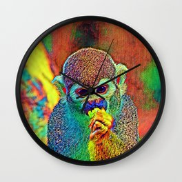 AnimalColor Monkey 002 Wall Clock