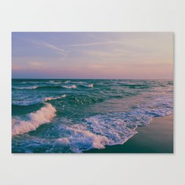 Sunset Crashing Waves Canvas Print