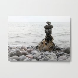 Stones at the sea Metal Print