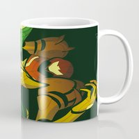 samus Mugs featuring SAMUS by Jemma Salume