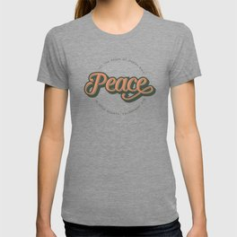 """PEACE"" Bible Verse Print T-shirt"